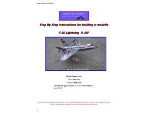 Beer can airplane template F-35 Lightning JSF