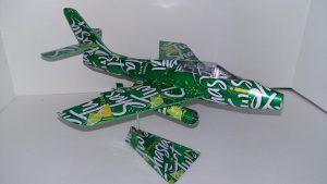 F-84 ThunderStreak soda can airplane Plans