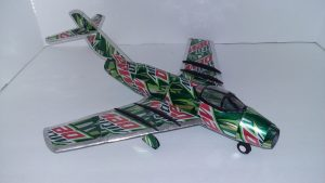 Pop can airplane pattern Mig 15