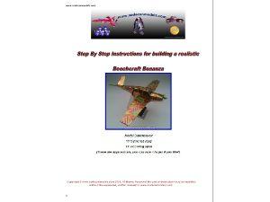 Soda can airplane plans Beechcraft Bonanza