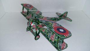 Soda can model template Spad XIII