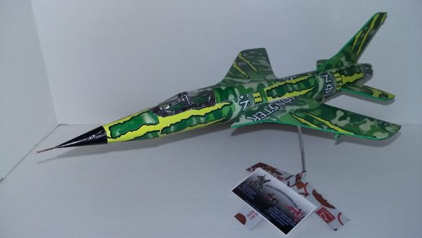 Aluminum can airplane Plans F-105 Thunderchief