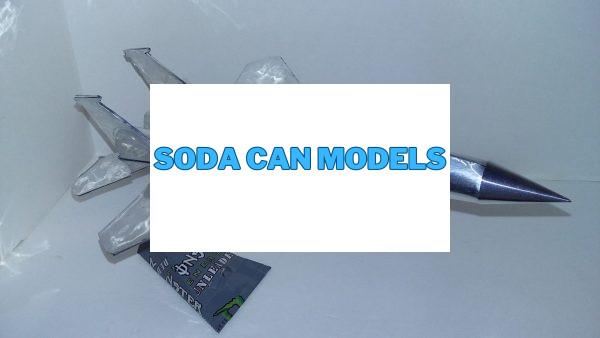 Aluminum can plane pattern F-15 Eagle