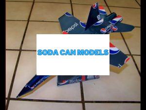 Aluminum soda can plane plans F-18 Hornet