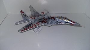 Beer can airplane pattern Mikoyan MiG 29
