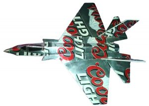 Beer can airplane template F-35