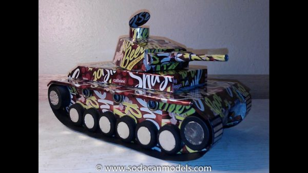 Beer can Panzer Tank plans