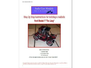 """can car pattern Ford Model """"T"""" Tin Lizzy"""