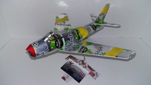 F-86 Sabre soda can airplane Plans