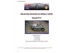 Pop can tank Renault FT-17 Plans