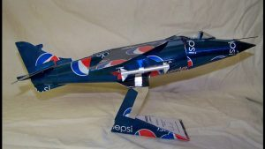 Harrier soda can airplane plans