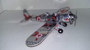Pop can airplane plans Ryan PT-22