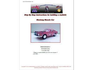 Pop can car pattern 68 Mustang