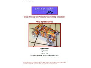 Pop can car instructions 32 Ford Roadster