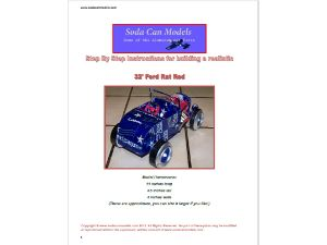 Pop can hot rod plans 32 Ford Rat Rod