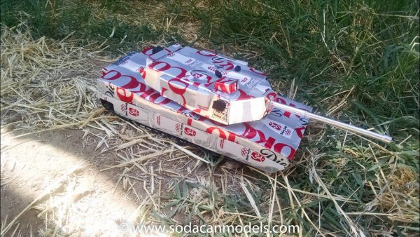 Soda Can Abrams Battle Tank Plans