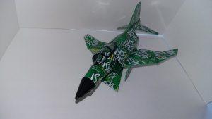 Soda can airplane pattern F-4 Phantom II