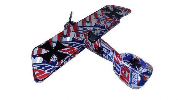 Aluminum can airplane pattern Albatros DVa