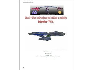 Soda Can Starship Enterprise plans
