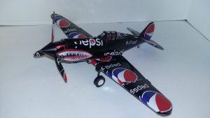 Soda can plane template P-40 Warhawk