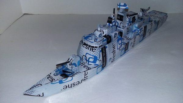 Soda Can ship plans Naval Corvette