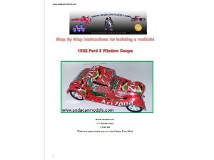Complete set of SIXTEEN soda can car DIY plans