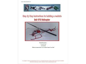 Complete set of FOUR soda can Helicopters plans