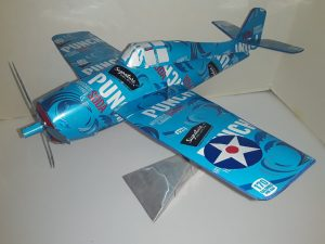 soda can airplane Grumman wildcat